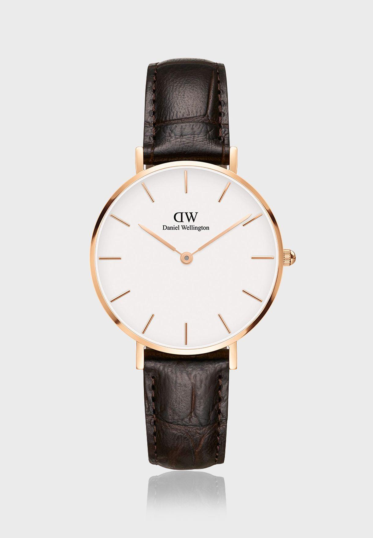 ساعة بيتيت يورك ار جي بيضاء 32 ملم