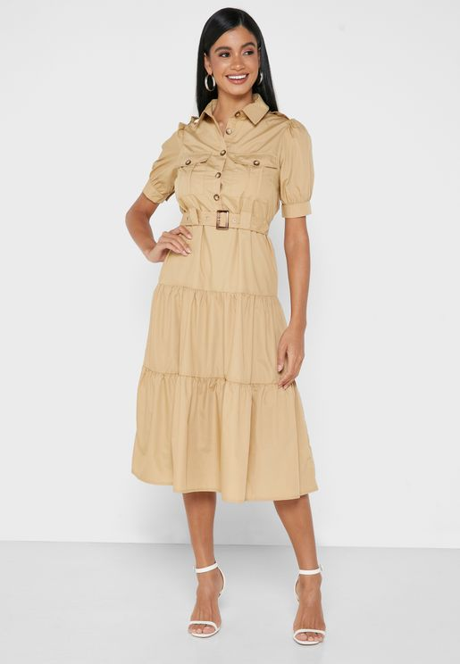 Collared Utility Dress