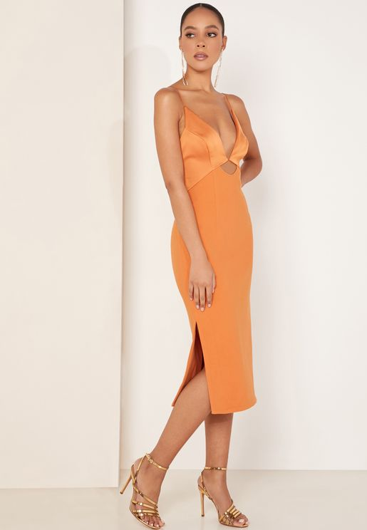Paradise Plunge Side Split Dress