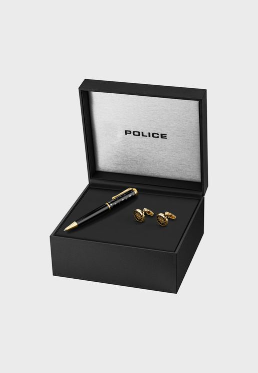 PA30116SLB/181 Cuff Links+Pen Gift Box