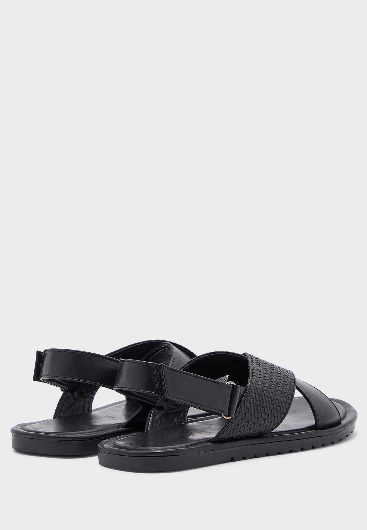 Mens Cross Strap Sandals