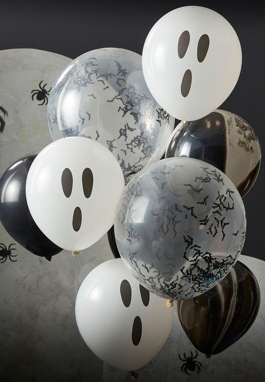 Halloween Ghost, Bats And Marble Balloon Bundle