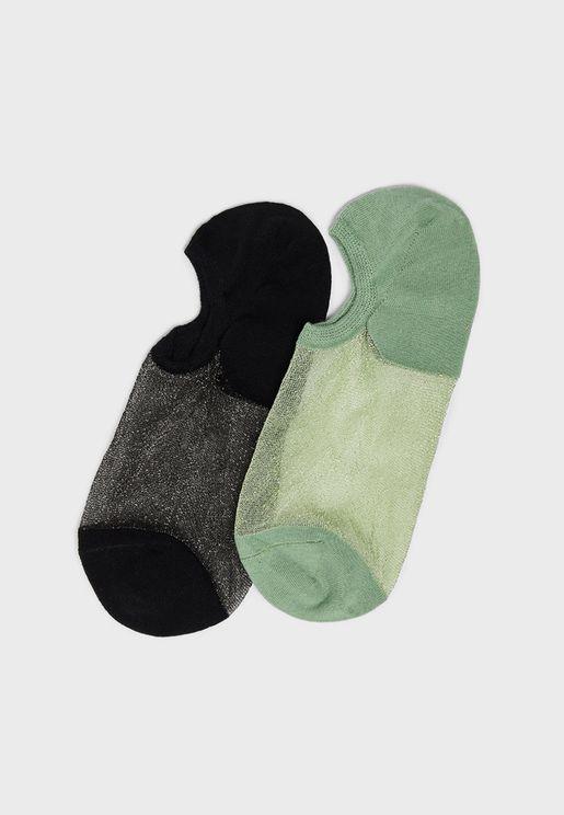 2 Pack Sheer Invisible Socks