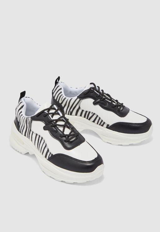 Animal Print Chunky Sneakers