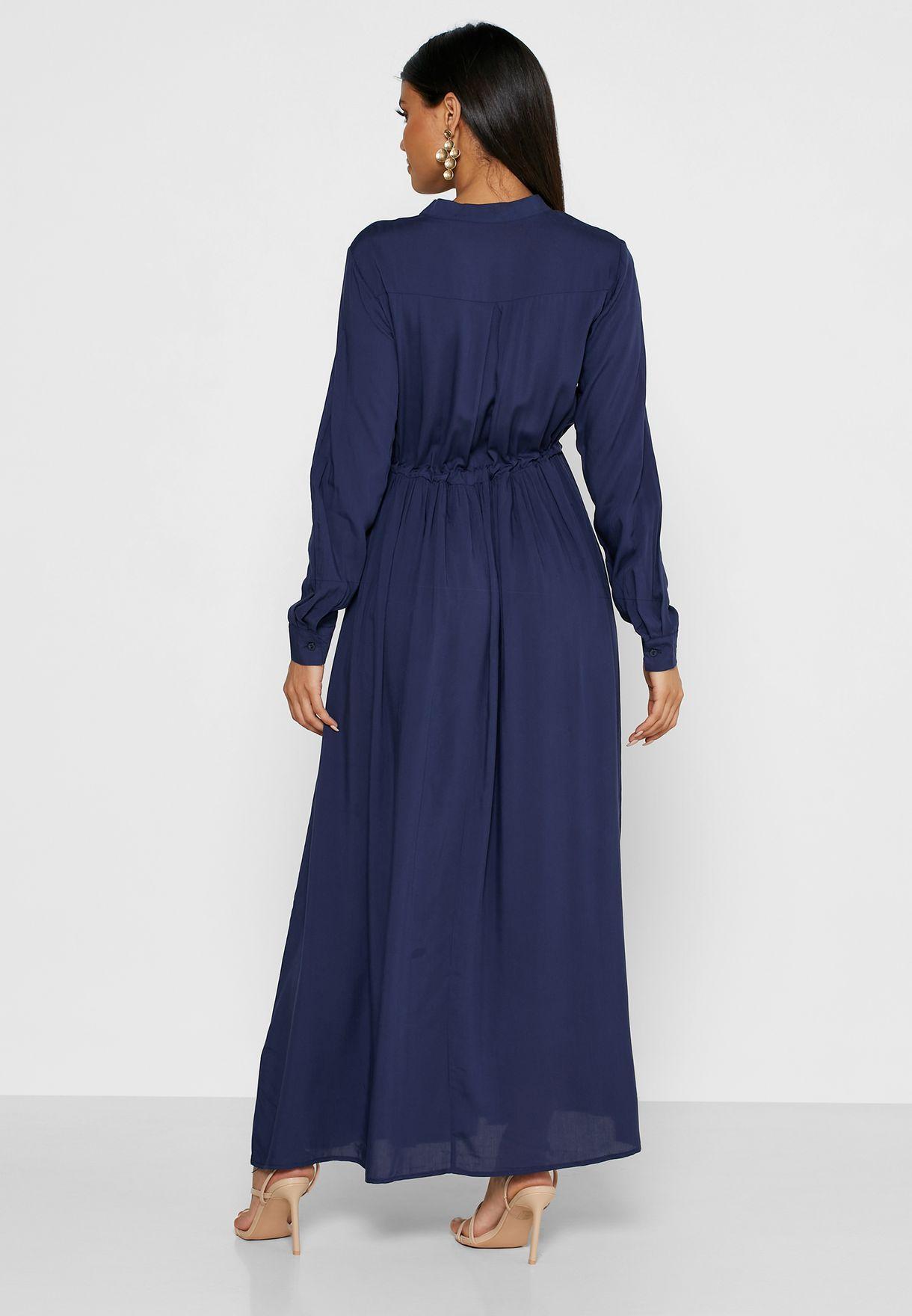 فستان ميدي بأربطة