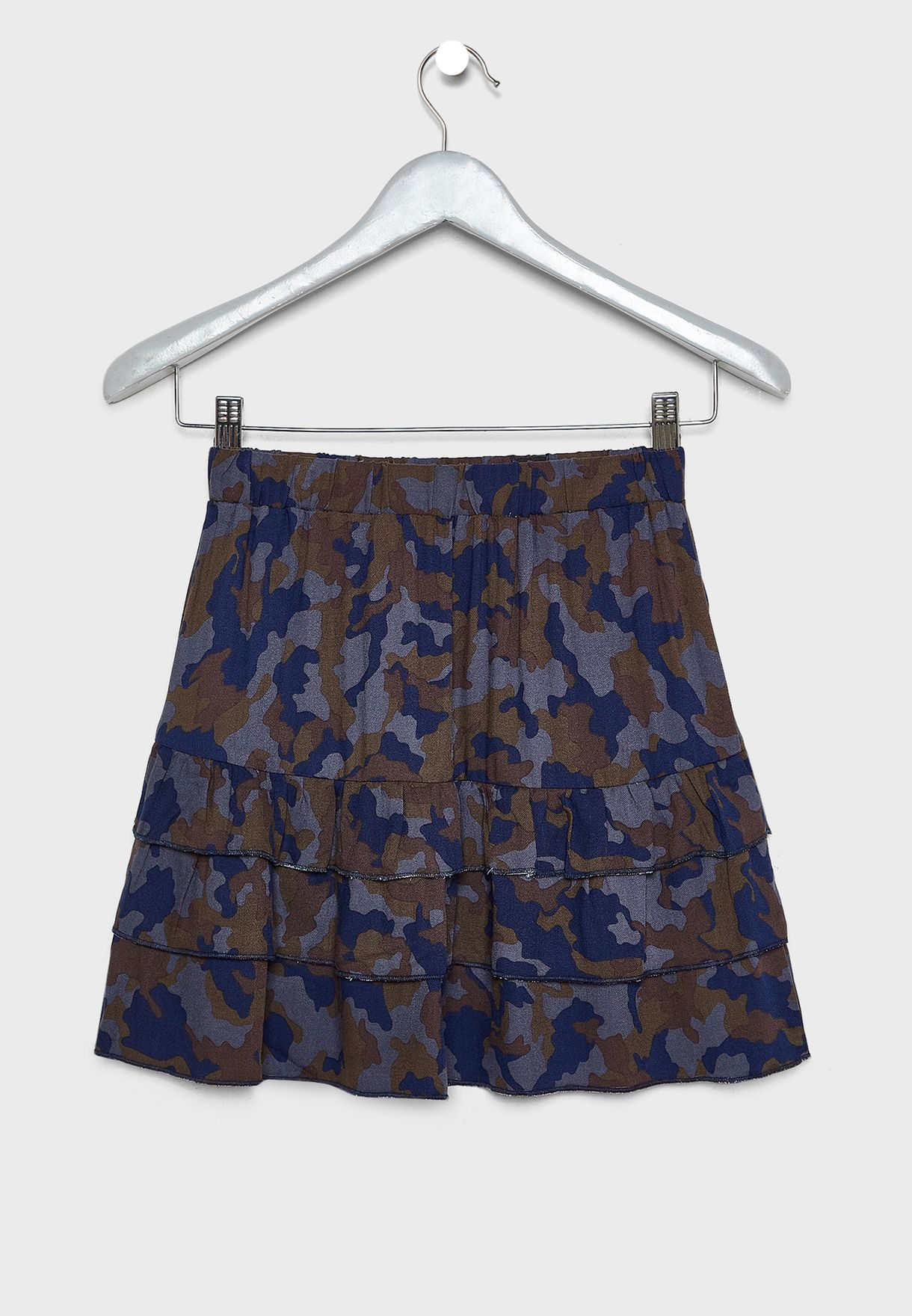 Kids Camo Layered Skirt