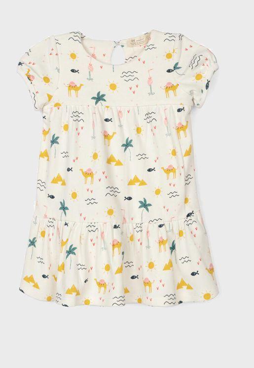 Infant Camel Print Dress