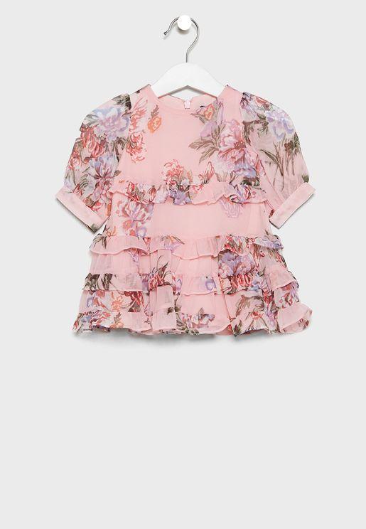 Infant Floral Frill Dress