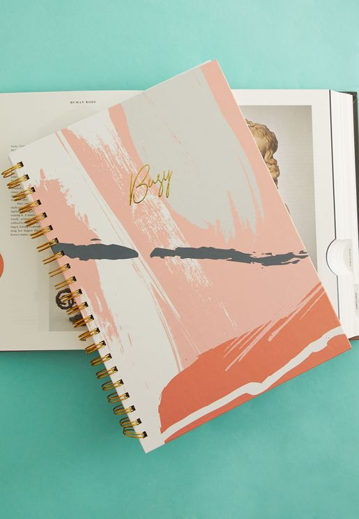 A4 Paint Stroke Ring Bound Notebook
