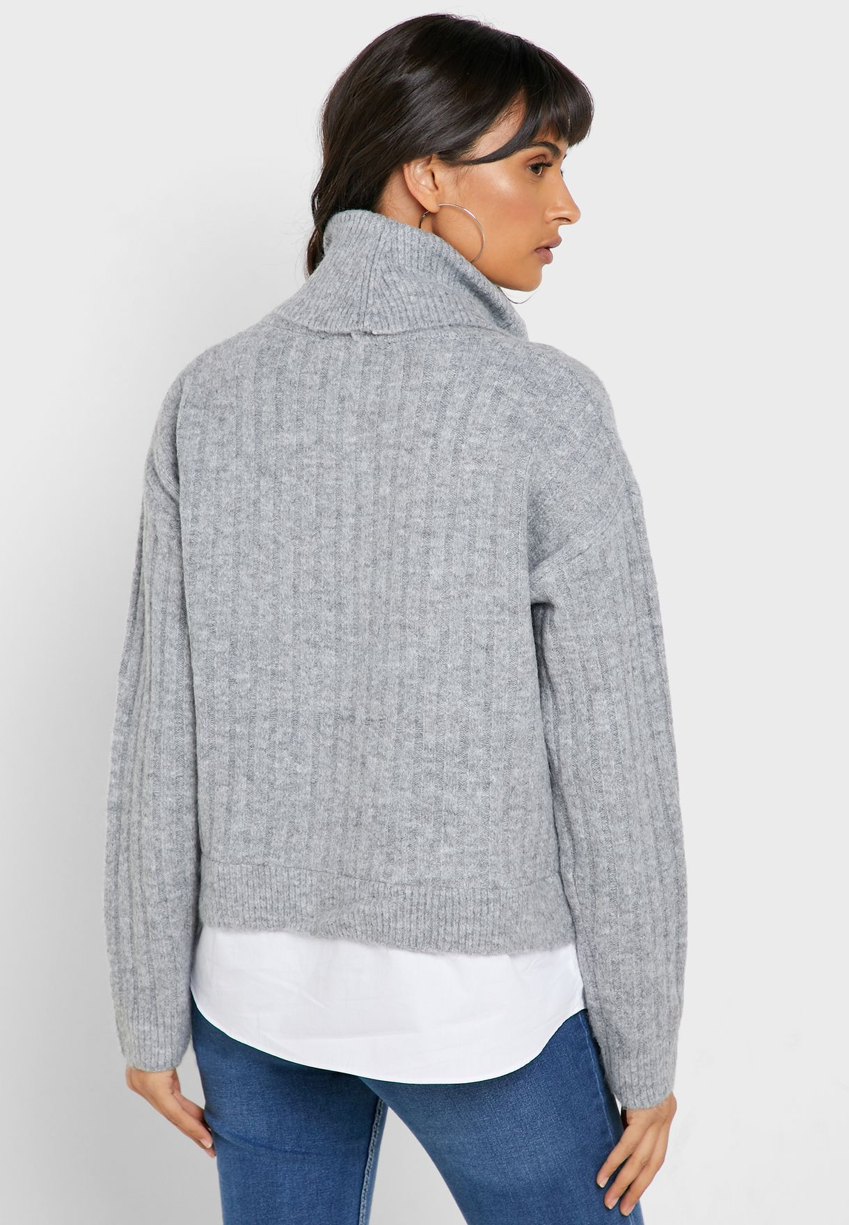 2 in 1 Roll Neck Sweater