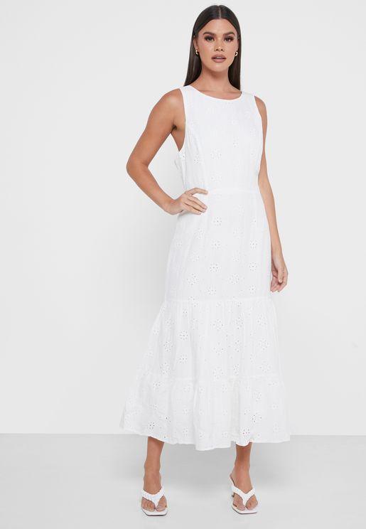 فستان بحمالات كتف