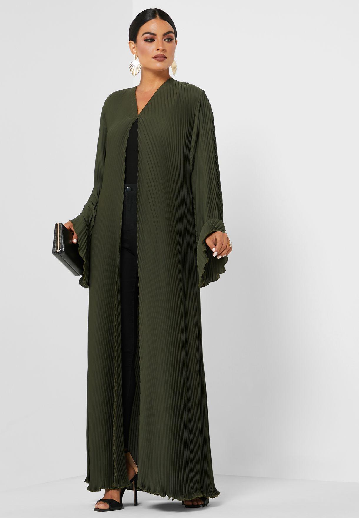Pleated Detail Abaya