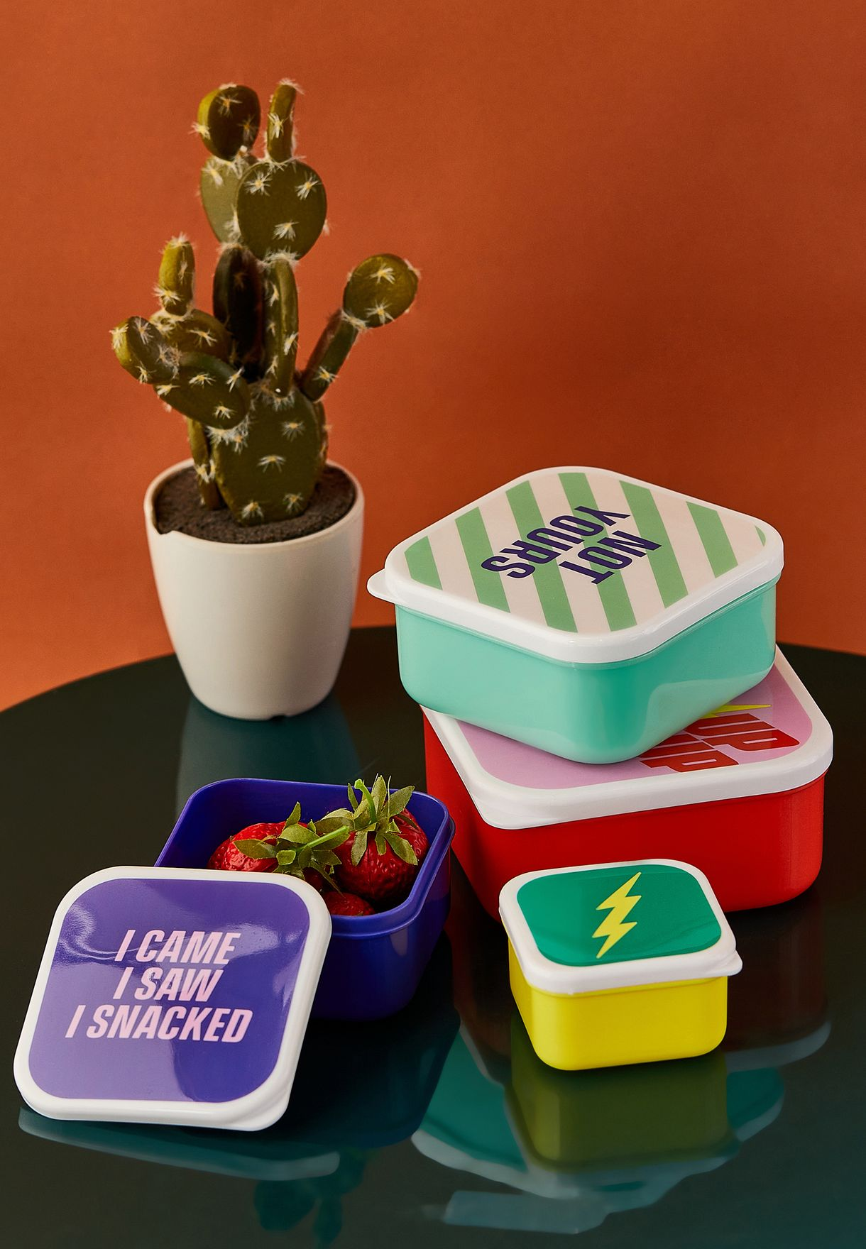 Set Of 4 Power Up Snack Boxes