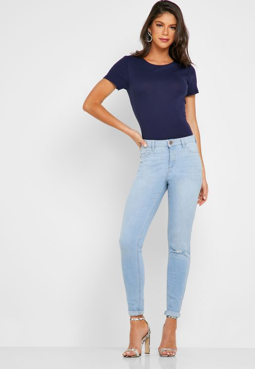 Darcy Mid Rise Ankle Grazer Skinny Jeans