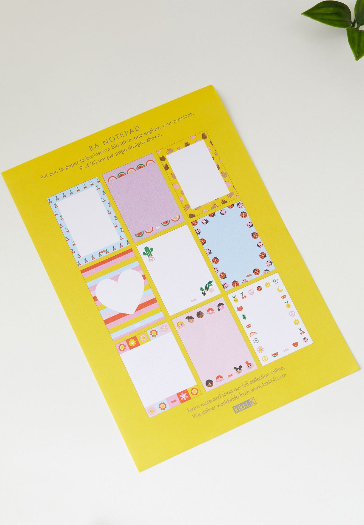 B6 Cute Feature Notebook