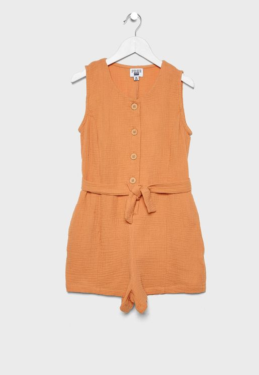 Kids Knot Detail Playsuit