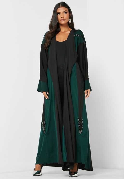 Color Block Abaya