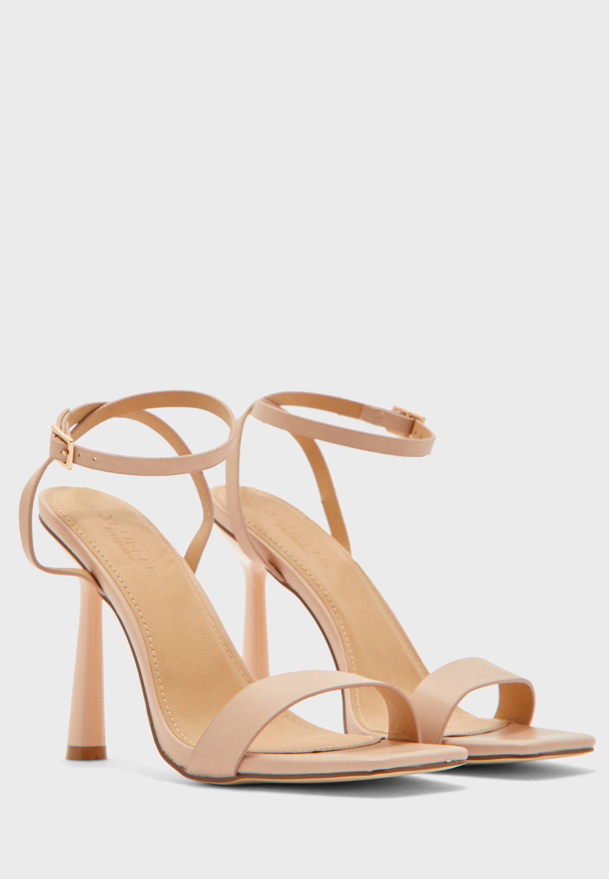 Square Toe Ankle Strap Sandal
