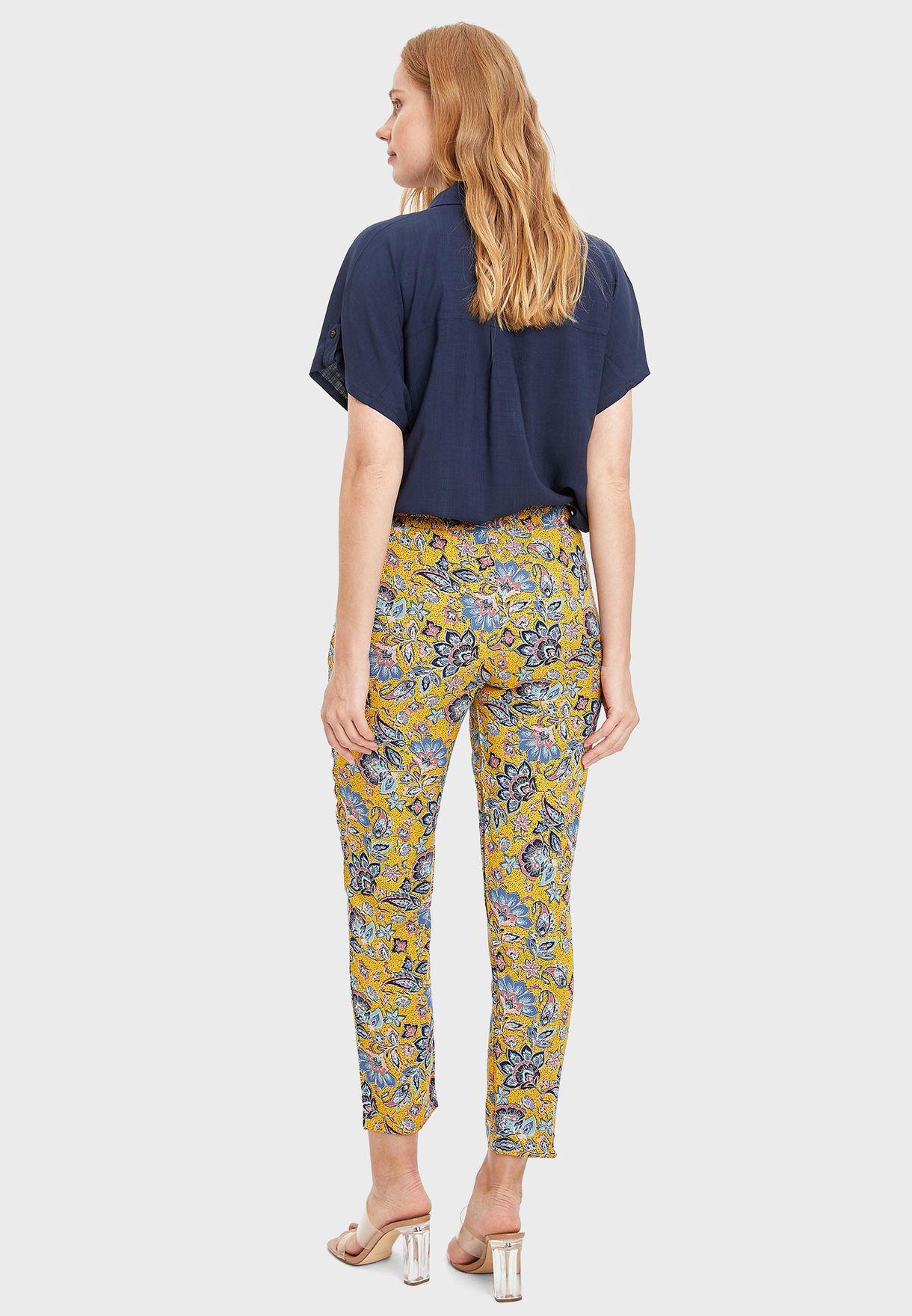 Printed Crop Pants