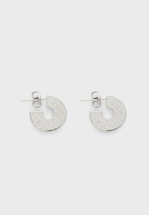 Token Hoop Earrings