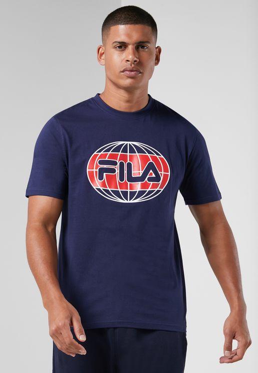 Laveer Nautical Globe Graphic T-Shirt