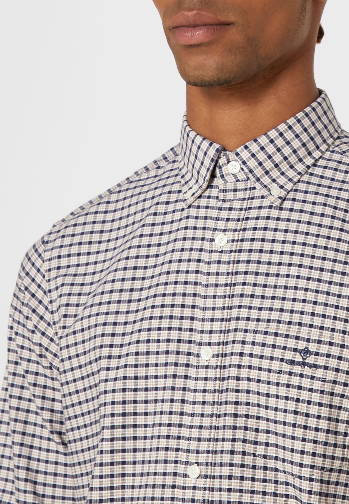Oxford Micro Check Regular Fit Shirt