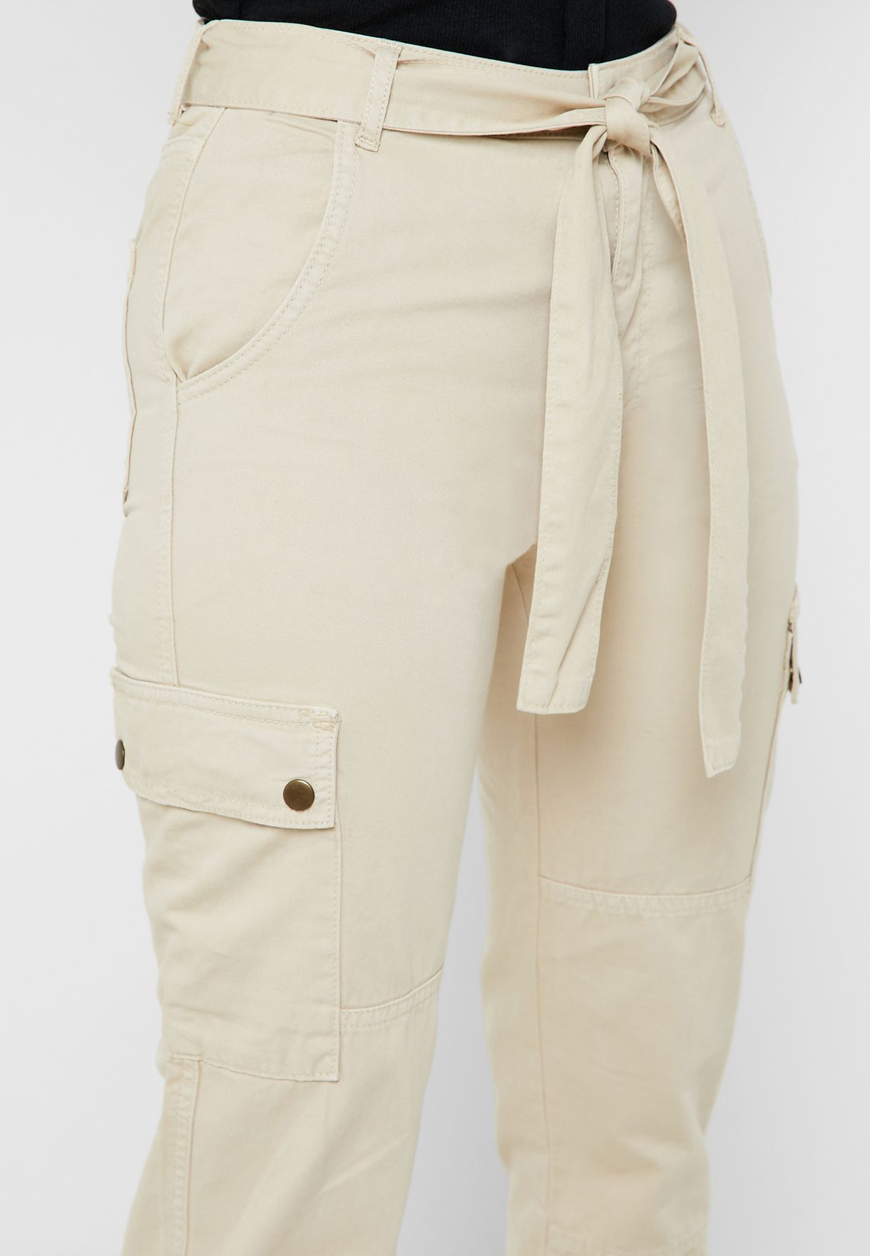Belted Jogger Pants