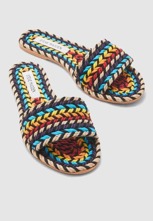 Roper Single Strap Flat Sandal - Multicolor
