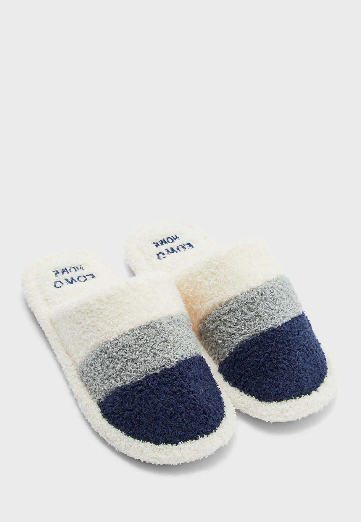 Stripes Men's Bedroom Slippers