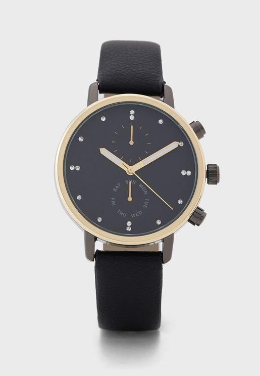 Sub Dial Detail Strap Watch