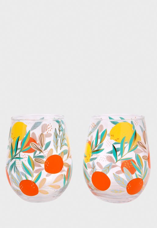 2 Set Dolca Vita Glasses