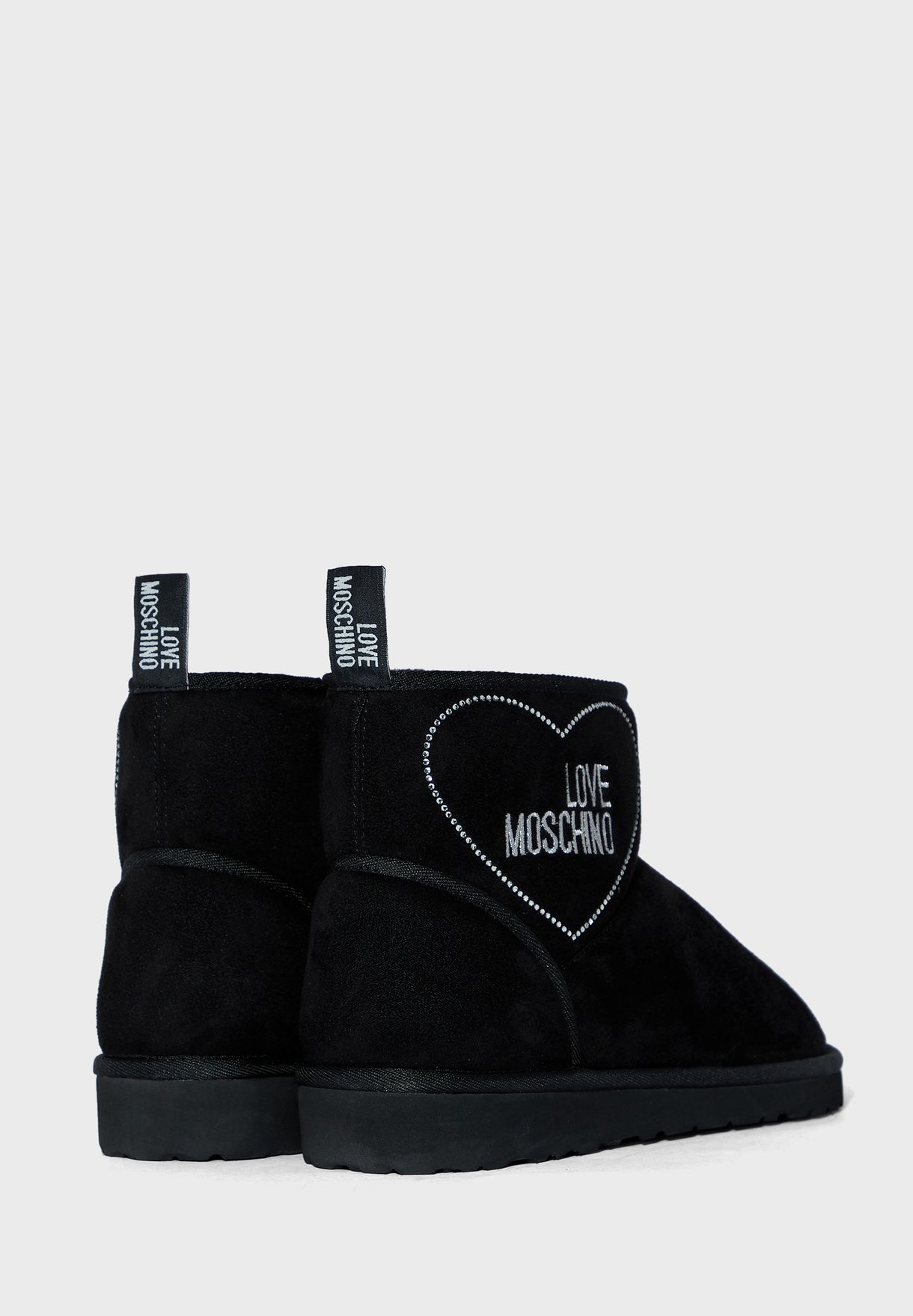 Logo Flat Ankle Boot