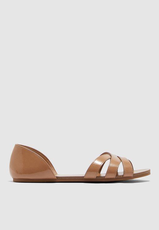 Judele Cross Strap Sandal