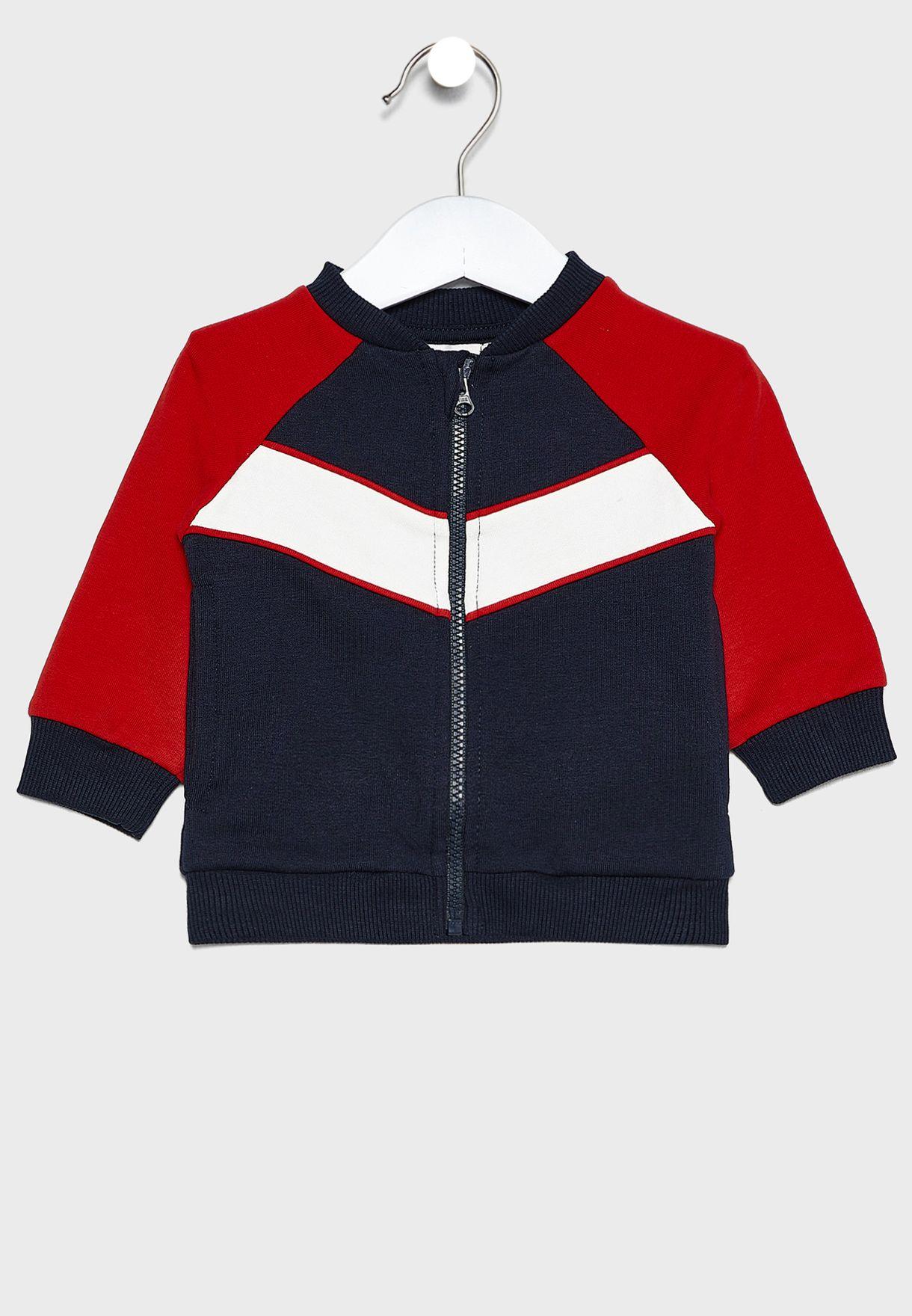 Infant Color Block Bomber Jacket
