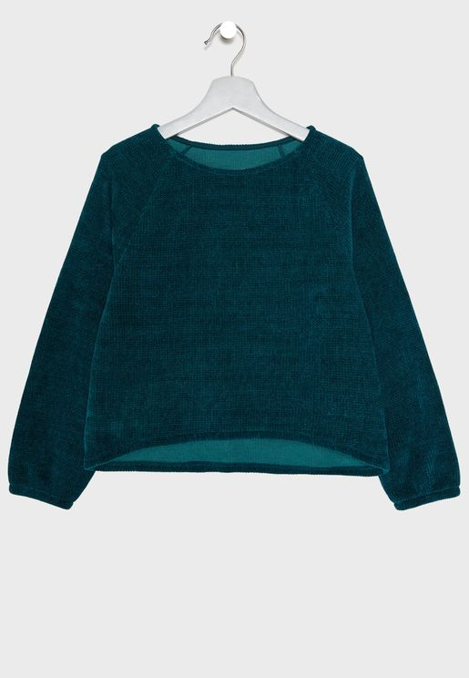 Kids Boat Neck Sweater