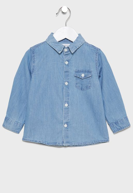 Infant Light Wash Denim Shirt