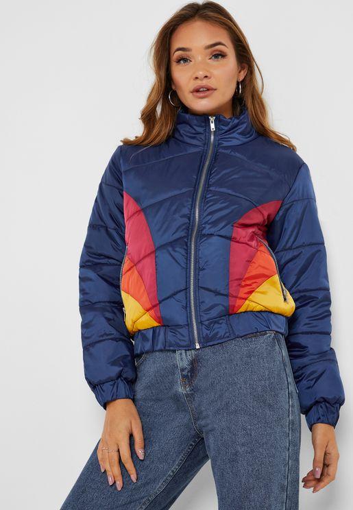 Colorblock Puffer Jacket