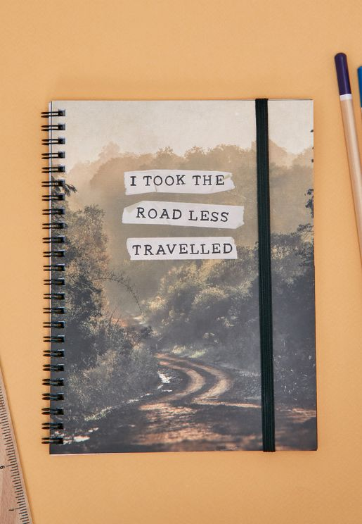 A5 Road Less Travelled Notebook