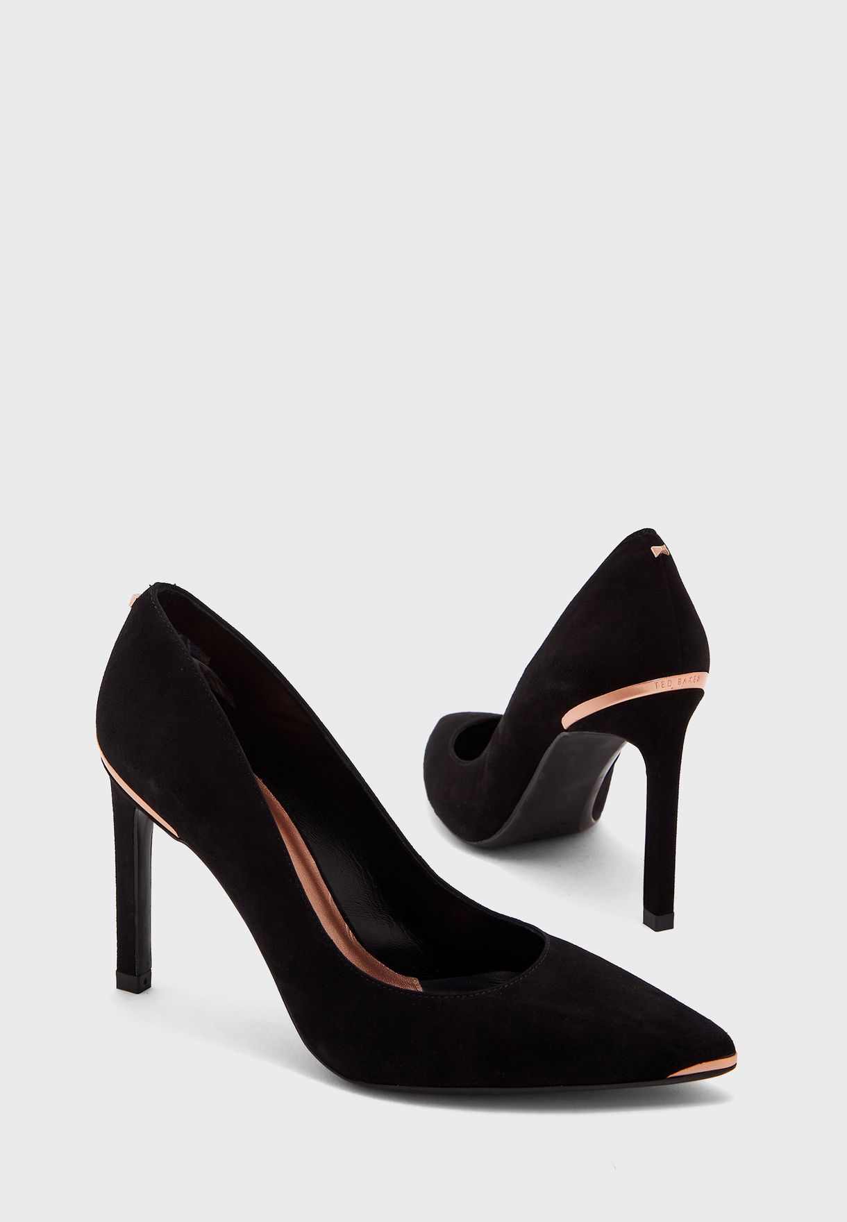 Wide Fit Melnis Straight High Heel Pump