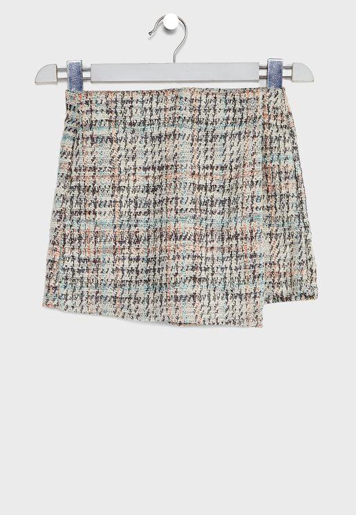 Kids Tweed Shorts