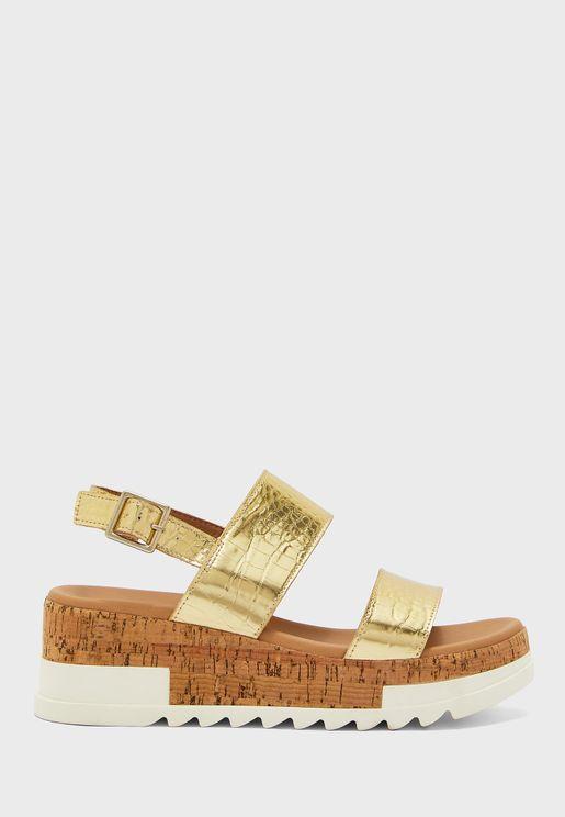 Brenda High Heel Wedge Sandal