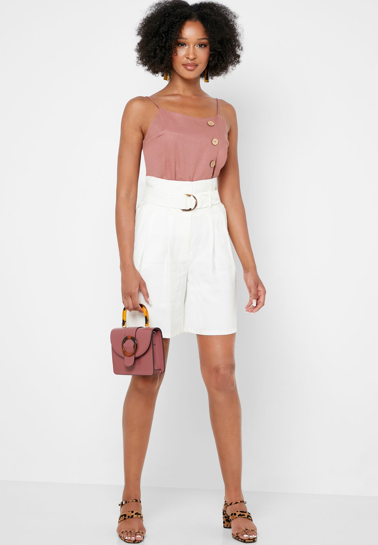 Buy Topshop Pink Button Detail Cami Top For Women, Uae 18832at57odp