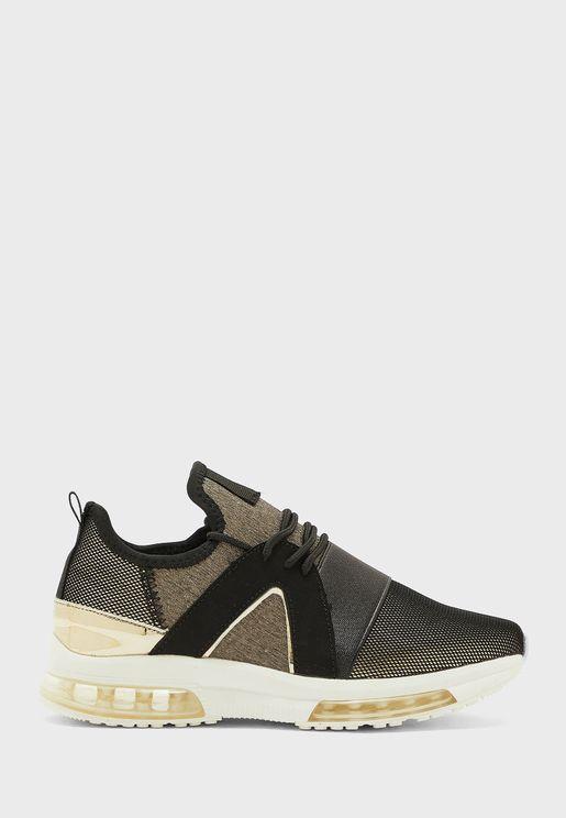 Elastic Detail Sneakers