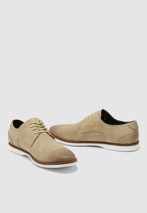 Faux Nubuck Casual Lace Ups