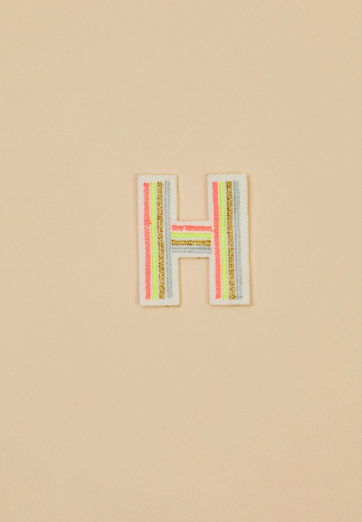 Kids Iron On Alphabet H