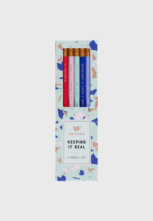 Set of 5 Keeping It Real Pencils Pack