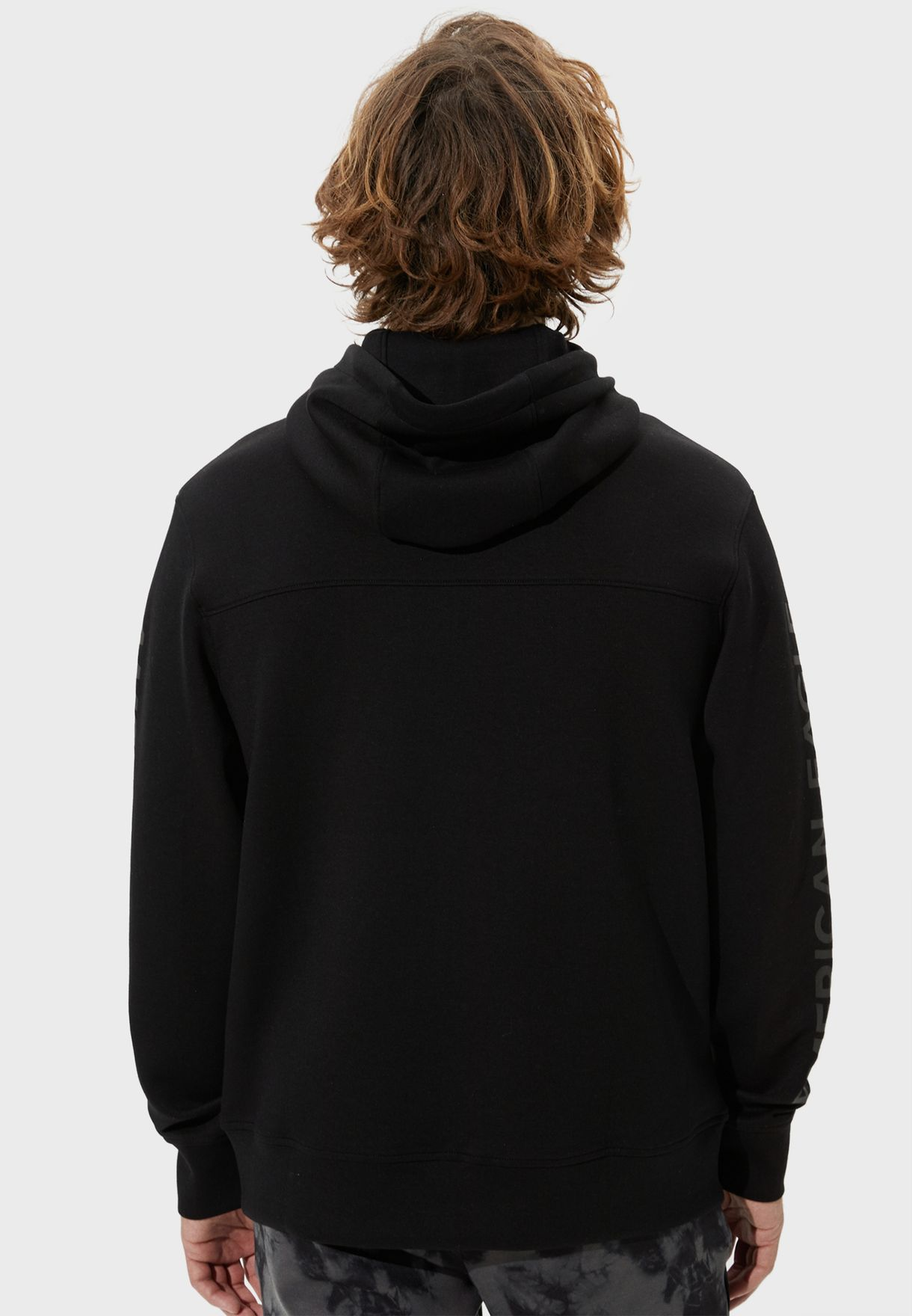 Logo Sleeve Zip Through Hoodie