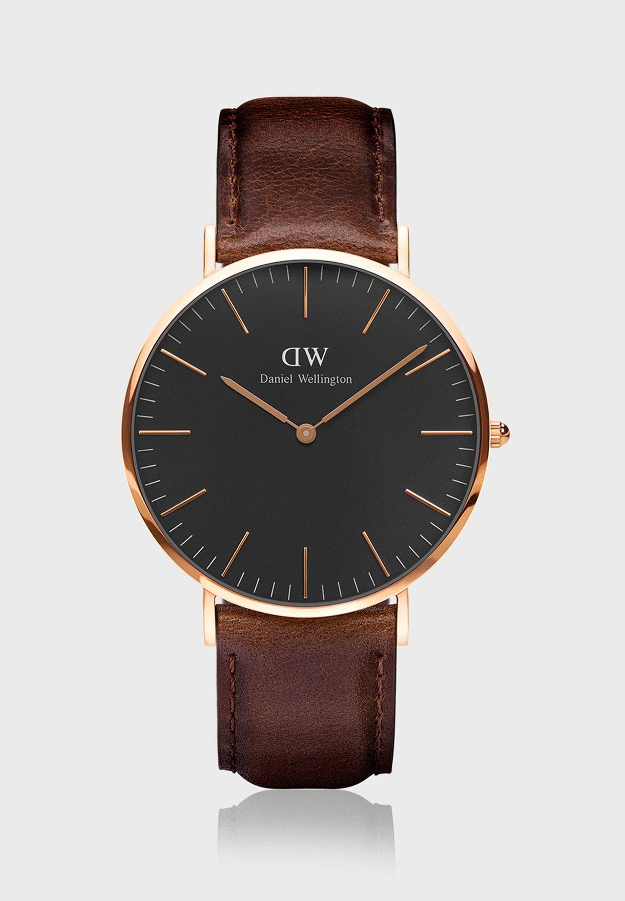 DW00100125 Classic Bristol RG Black 40mm Watch