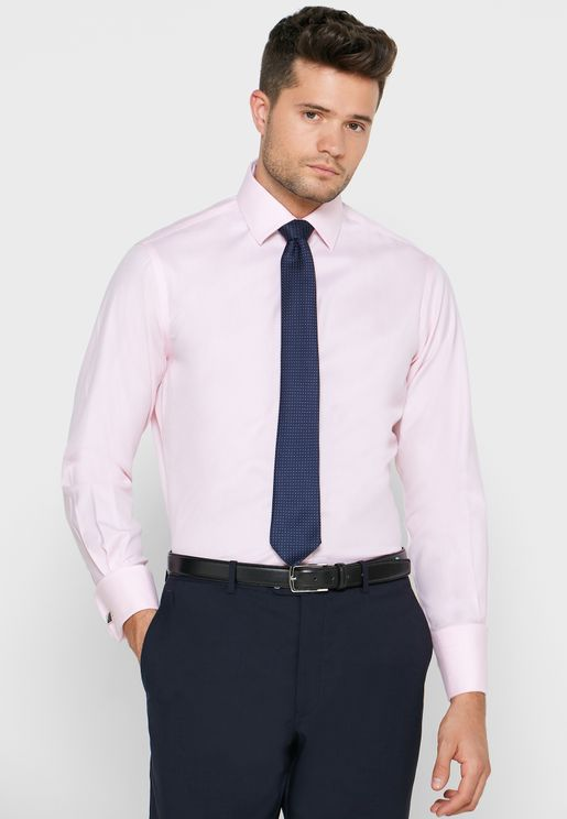 Double Cuff Slim Fit Shirt