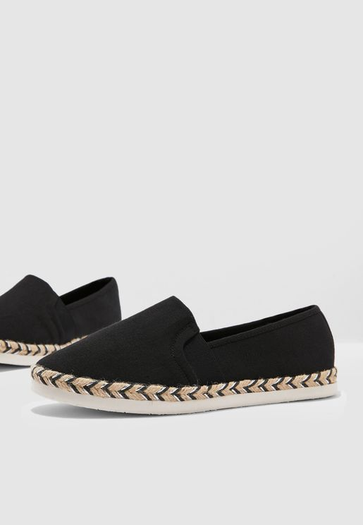 Wide Fit Marlene Espadrille - Black